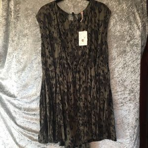 Free People leopard jungle dress